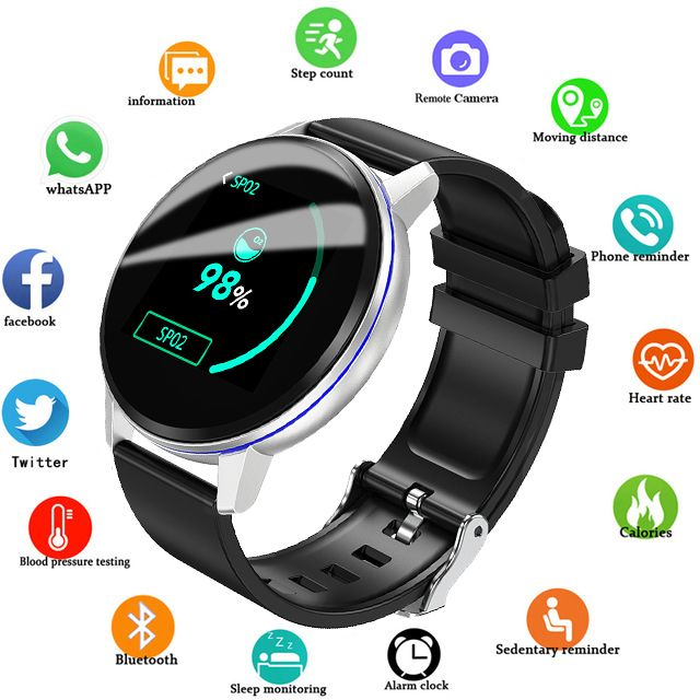 2019 neue LIGE Schwarz Casual Mode Smart armband Uhr Herren Fitness Tracker Top Marke Luxus Wasserdichte Uhr Smart Armband