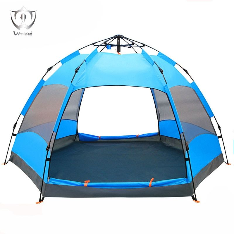 5 -8 People Pop Up Tents Wind Water Proof Big Capacity 2 Layers Outdoor Camping Tent ZH8-241
