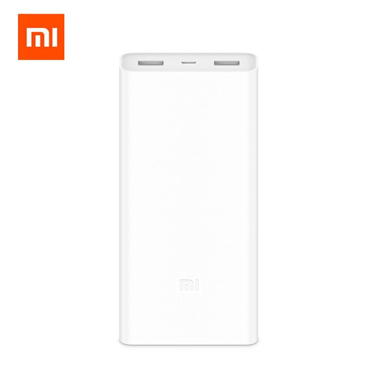 Neue 2018 Xiaomi 20000mA Power Bank 2C PLM06ZM Dual USB Ports Schnellladung QC 3,0 20000 mAh Mi Powerbank Externer Akku