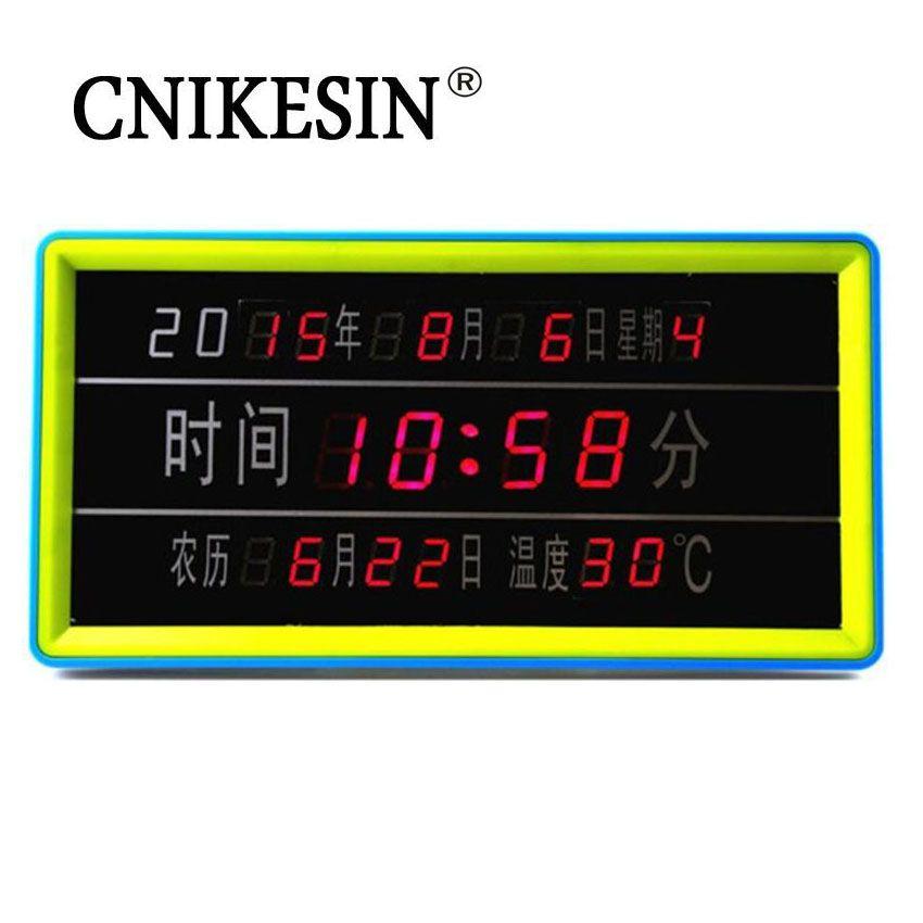 CNIKESIN Classic DIY kit Calendar LED Digital Electronic Clock Calendar Parts Special Offer With Temperature Display