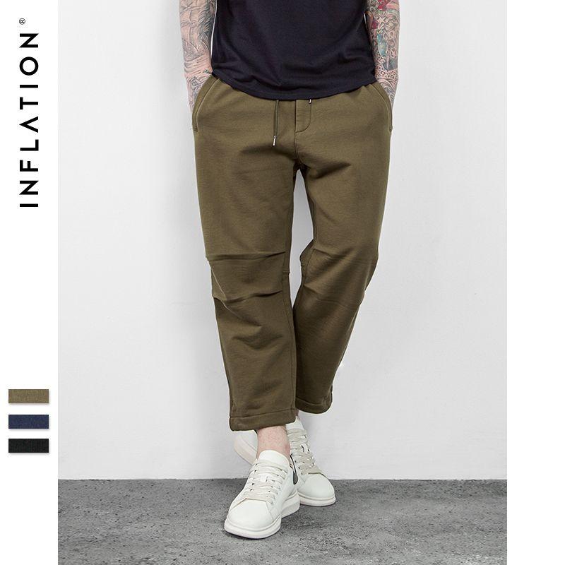 L'INFLATION 2017 SS D'été Hightstreet de Collection Hommes D'été Hommes de Casual Et Confortable Lâche Dentelle Dixièmes Pantalon 0629S17