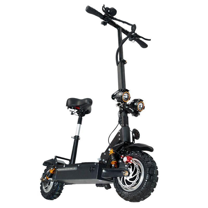 Janobike elektrische roller doppel stick mit sitz 60 V/3200 W erwachsene schnelle folding roller 11 zoll road reifen elektrische stadt roller