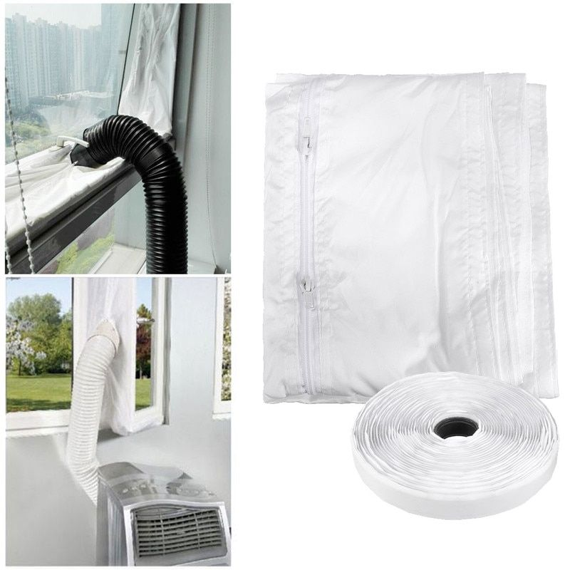 1PC Universal Air Lock Window Seal Cloth For Mobile Air Conditioners Water-Repellent Tumble Dryer Home Accerssories