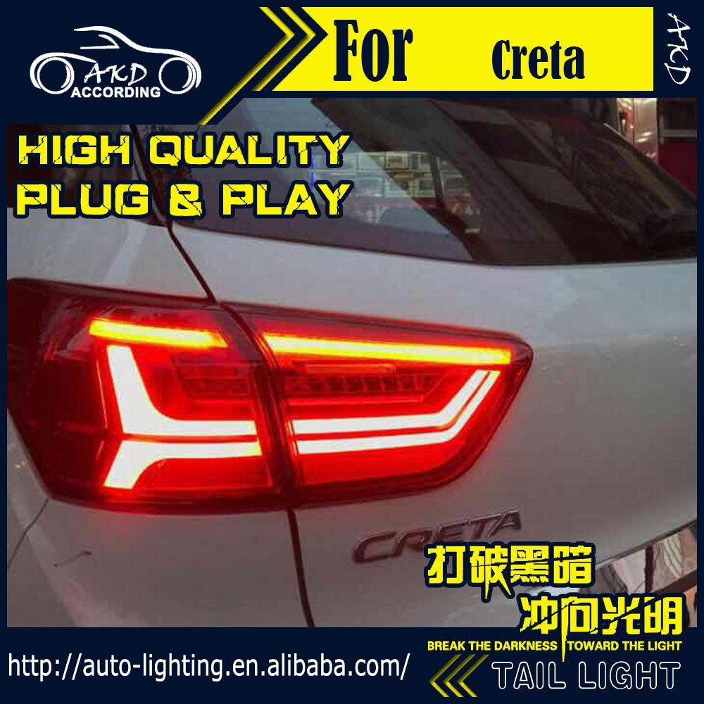 AKD Car Styling Tail Lamp for Hyundai Creta Tail Lights IX25 LED Tail Light LED Flash Signal LED DRL Stop Rear Lamp Accessories