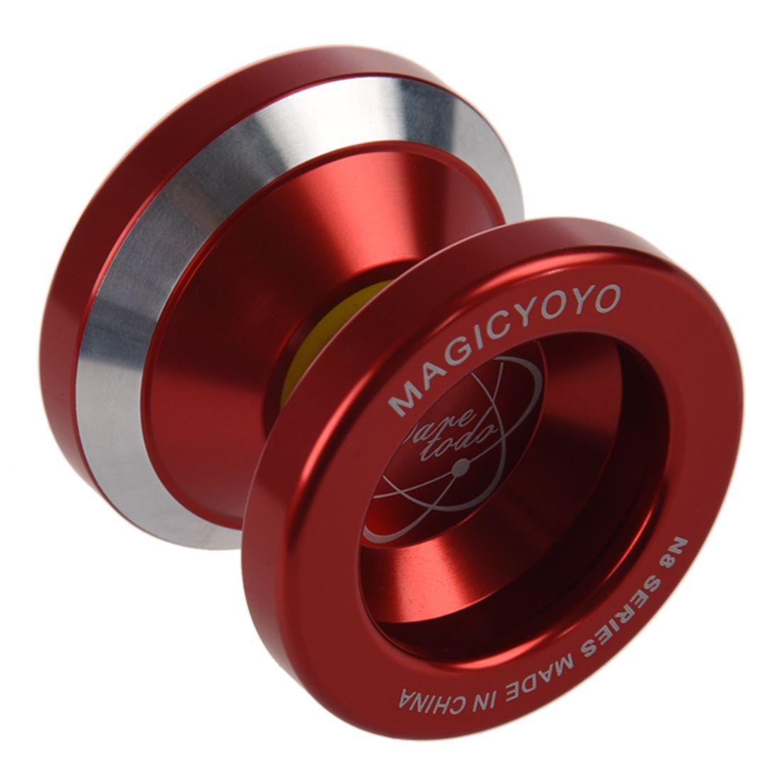 Magic Yo-Yo N8 Super Professional YoYo + String + Free Bag +Free Glove (Red)