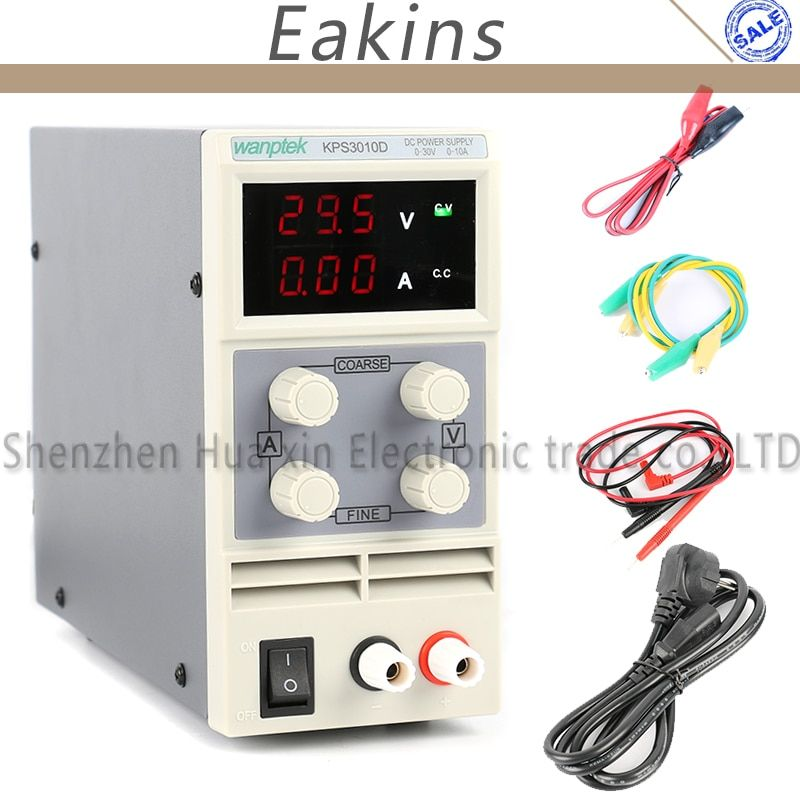KPS3010D Mini LED Digital Adjustable DC Power Supply ,0~30V 0~10A ,110V-220V, Switching Power Supply 0.1V/0.01A