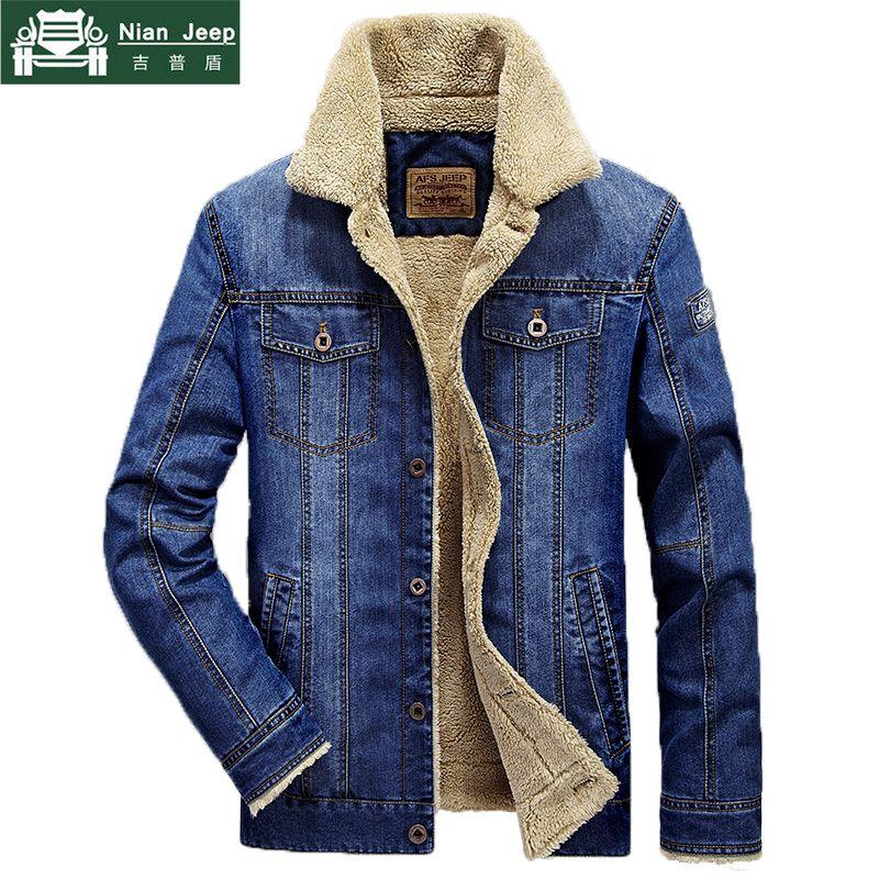 Plus Größe M-6XL Mode Denim Jacke Männer Winter Wolle Liner Warme Herren Jacken Marke Outwear Jeans Mäntel Männlichen Cowboy Kleidung