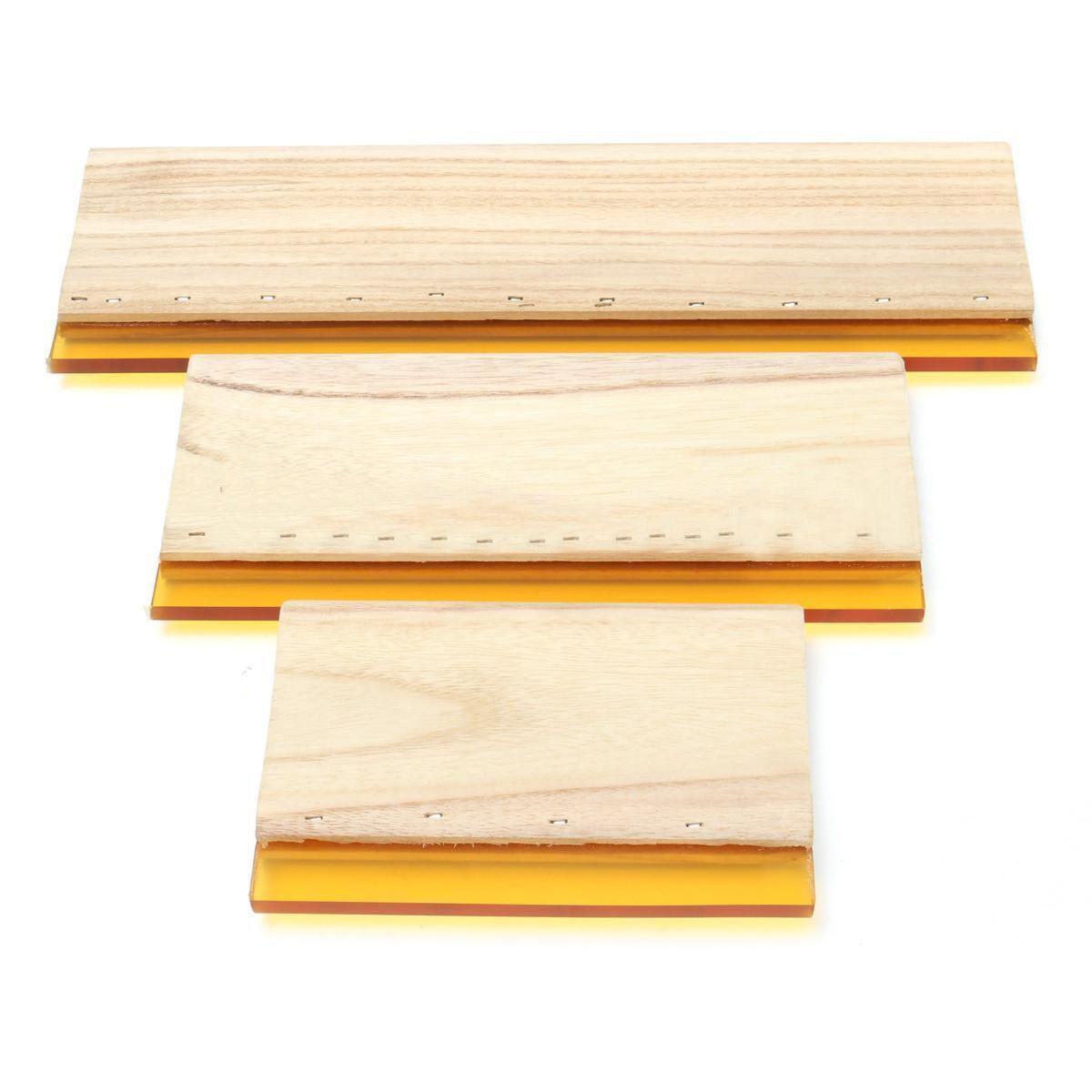 3pcs/lot Silk Screen Printing Squeegee Board Mayitr Wearproof Wood Rubber Ink Scraper Blade Scratch Board Tools 16cm 24cm 33cm