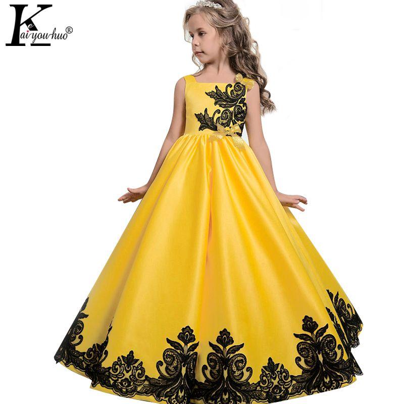 2018 Niñas vestido verano niños Vestidos para Niñas ropa adolescentes princesa vestidos 5 6 7 8 9 10 11 12 13 14 años