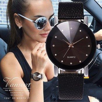 Vansvar Femmes Montre De Luxe Marque Casual Simple Horloge À Quartz Pour Les Femmes Bracelet En Cuir Montre-Bracelet Reloj Mujer Drop Shipping