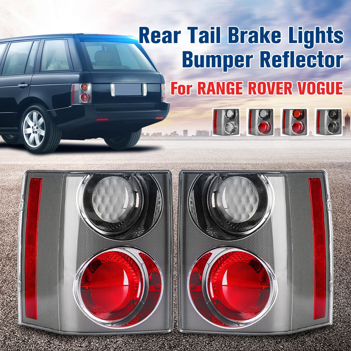 1 Pair Rear Tail Brake Lights Bumper Reflector Tail Brake Stop Light For RANGE for LAND ROVER VOGUE L322 2002 2003 2004 05-2009
