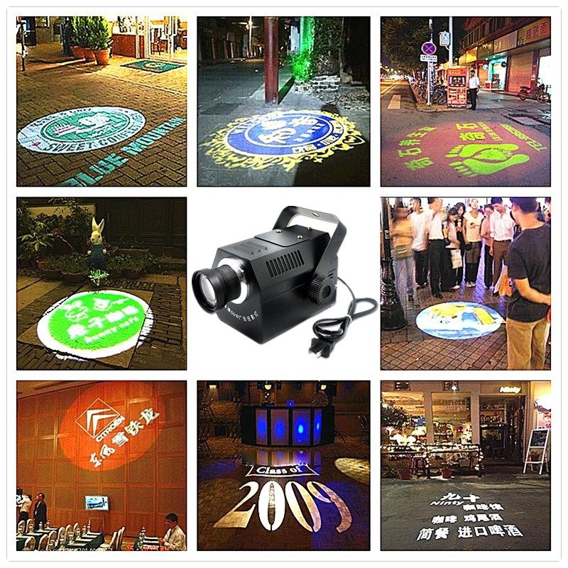 Logo Projector 30W 50W mini Light Custom Made Logo Lens Retail Shop Indicate Sign Instruct Notice Gobo Lens Party disco ktv stag