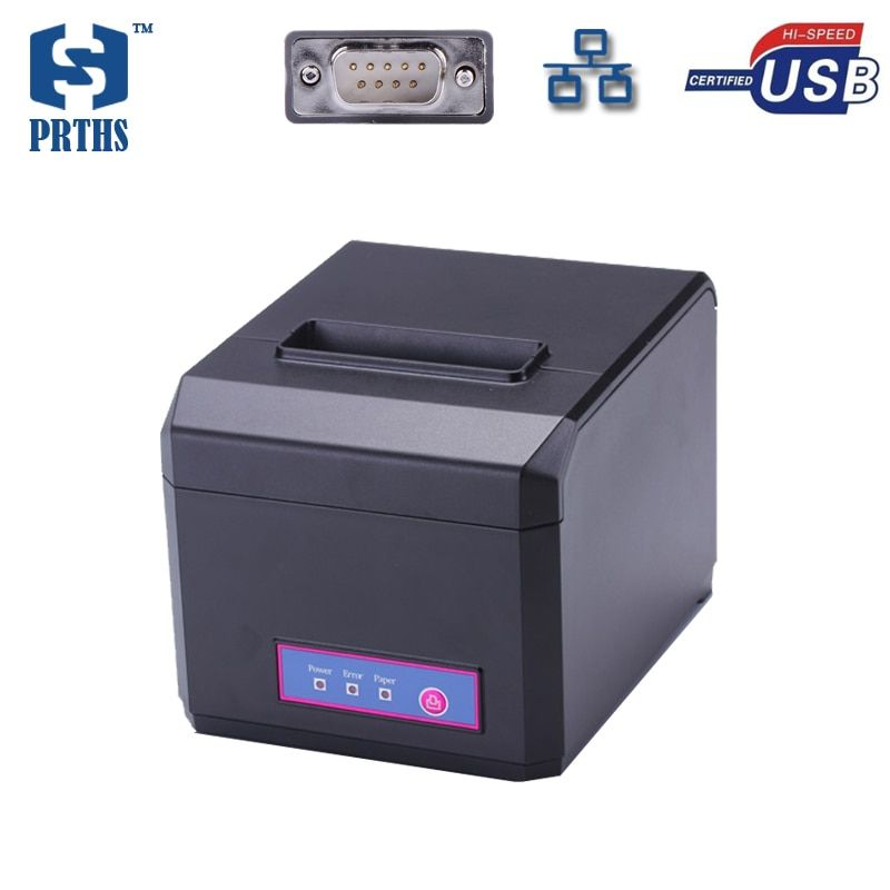 Imprimante thermique de reçu d'ethernet de 80mm supportant le téléchargement graphique de LOGO et imprimant le HS-E81USL d'impression de papier de largeur de 58 et de 80mm