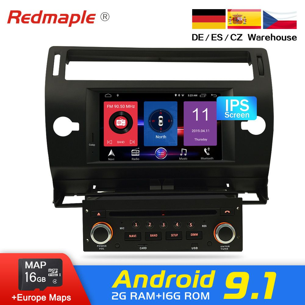 Android 8.0 Auto Radio DVD Navigation Multimedia Stereo Für Citroen C4 C-Triomphe C-Quatre 2004-2009 GPS WIFI Bluetooth-Player