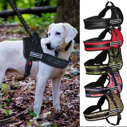 Dog Harness Nylon No Pull Large Dog Harness Quick Control Pet Vest For Pitbull Husky k9 Training Walking arnes perro