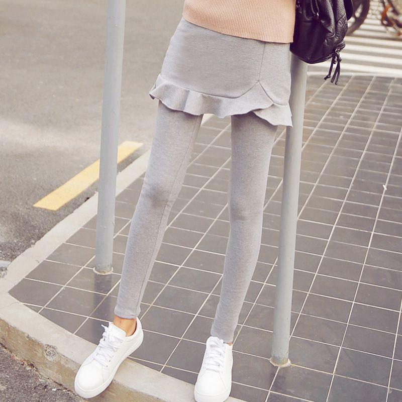 Fake Two-piece Outer Cotton leggings U26025