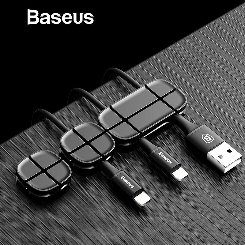 Baseus Handy Kabel Clip Für Auto Desktop Ordentlich Ladegerät Kabel Organizer Für Daten Kabel Digitale Draht Ladekabel Wickler