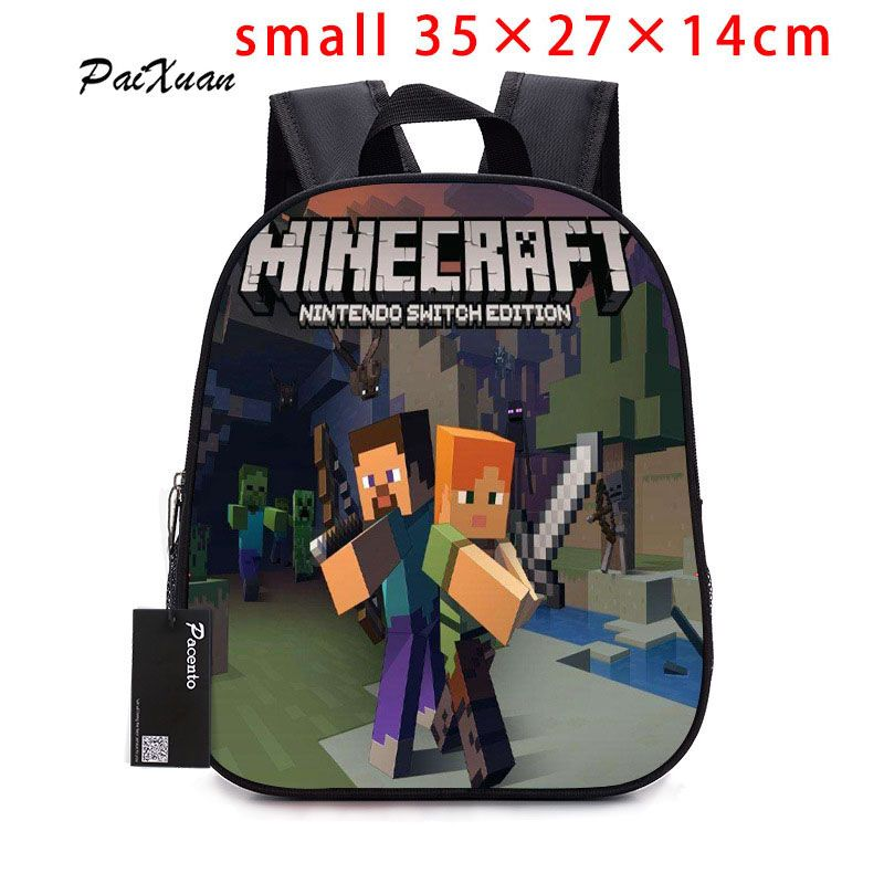 2017children Backpack Kindergarten Backpack Boy Cute MineCraft Cartoon Backpack Hot Game Backpack School Bags for Boys and Girls