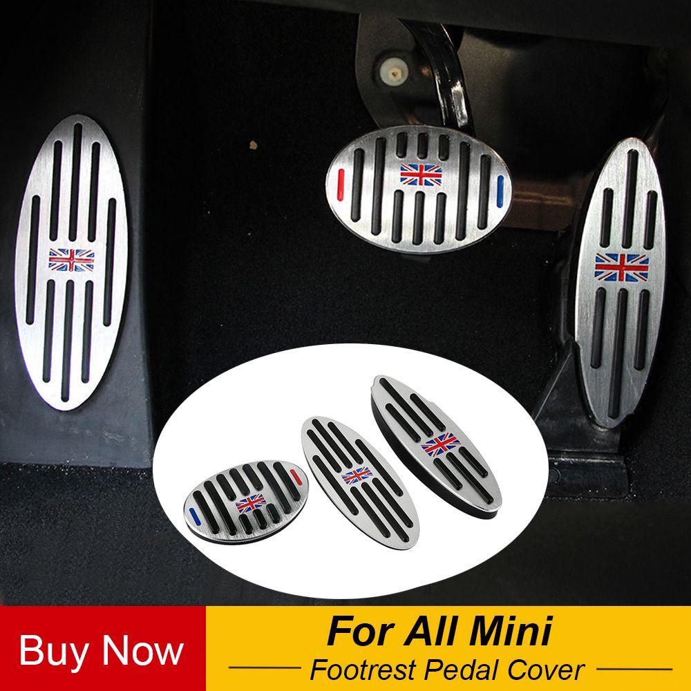 Jack Aluminium ZU Fußstütze Gas Bremse Kupplung Pedal Abdeckung Für BMW Mini Cooper JCW S R55 R56 R60 R61 F54 f55 F56 F60 Auto Zubehör