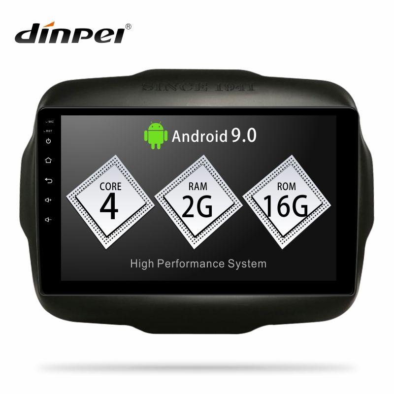 Dinpei Android 9.0 Auto Radio Multimedia Player Für Jeep Renegade 2016 2017 2018 GPS Navigation 4G wifi video carplay androidauto