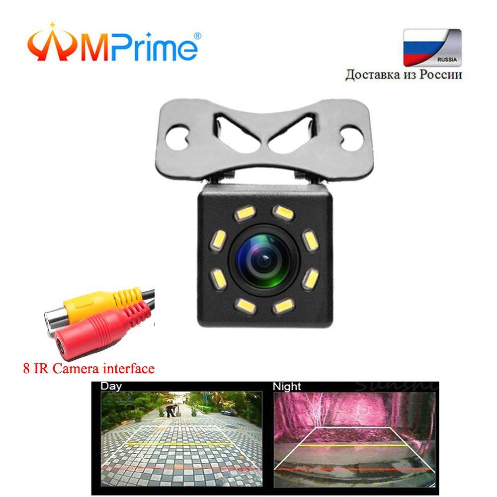 Caméra de recul de voiture AMPrime caméra de recul universelle de stationnement 8 IR Vision nocturne étanche 170 grand Angle HD Image couleur