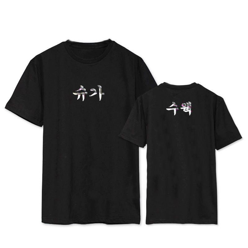 Kpophome Hot BTS Bulletproof Juvenile with the short sleeve spring and summer silver printing loose T-shirt