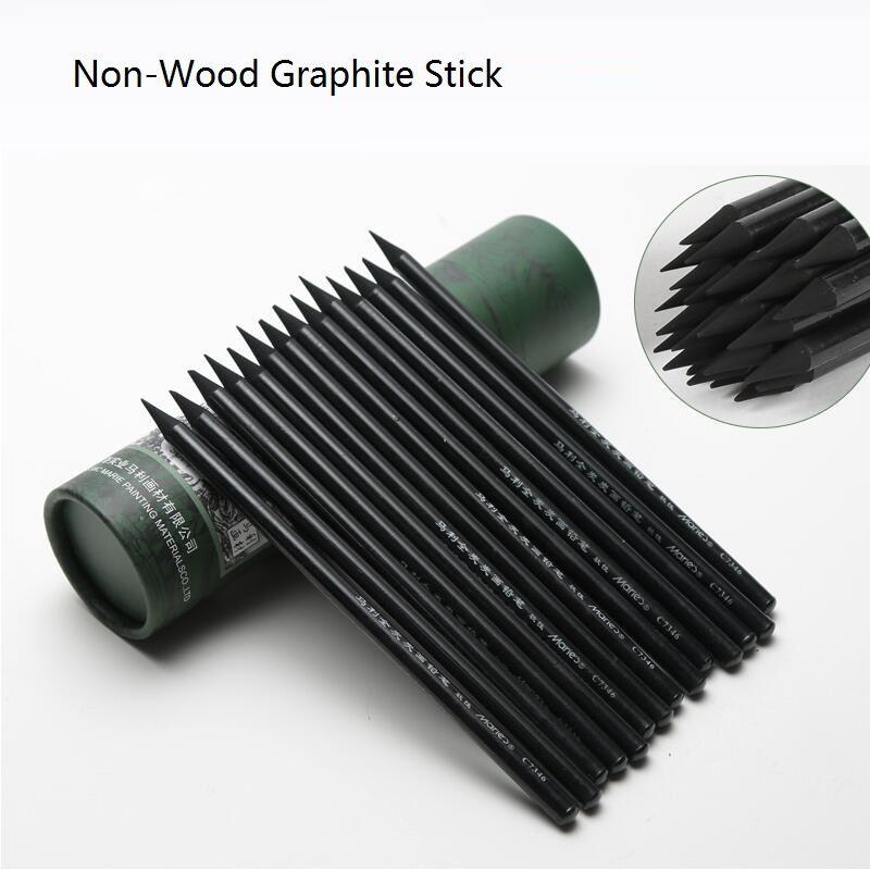 Non-Bois Crayons Graphite Mou-GRAPHITE Croquis Dessin Artiste Ensemble de Crayons Fusain D'artiste Pleine Graphite. c7346