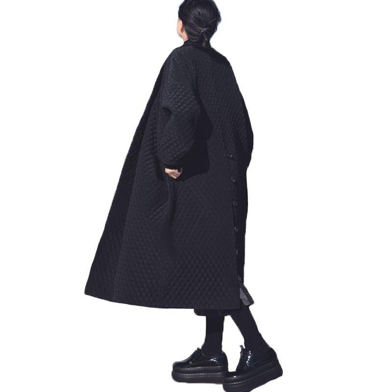 European and American Big Brand Long Loose Black Windbreaker Long Trench Coat for Women