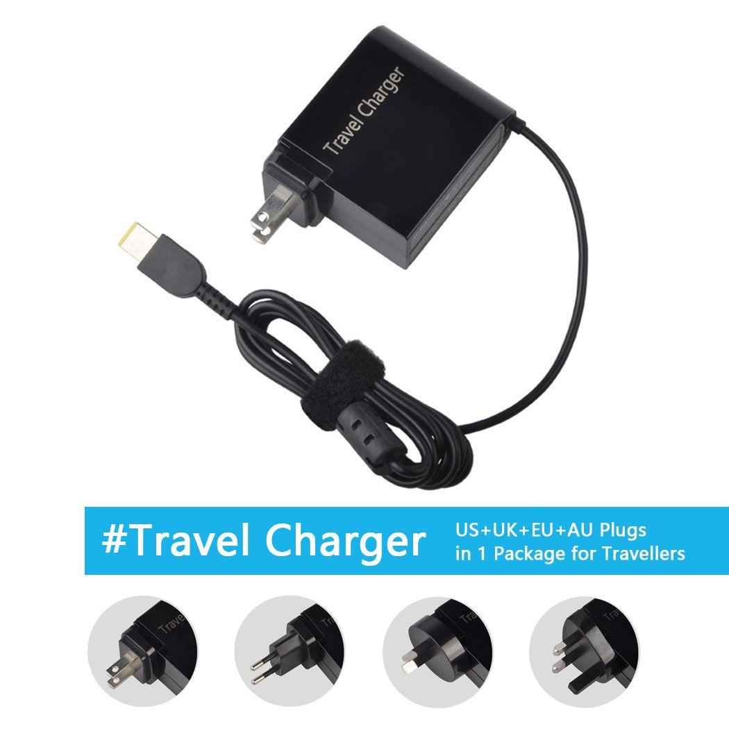 20 В 3.25a 65 Вт Адаптеры питания путешествия Зарядное устройство для Lenovo X1 Carbon G400 G500 g505 g405 Йога 13 с нами великобритания ЕС AU 4 Вилки