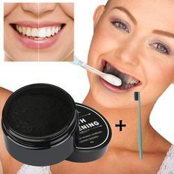 30g Blanqueadores de dientes Polvos de maquillaje natural orgánico activado carbón de bambú Pasta de dientes salud Cuidado 3ap24