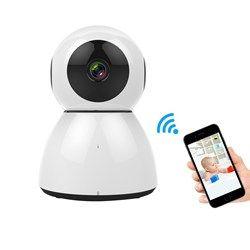 Gran Angular inalámbrico seguridad WiFi cámara de visión nocturna detección de movimiento Baby dormir Cuidado Seguridad eléctrica Monitores