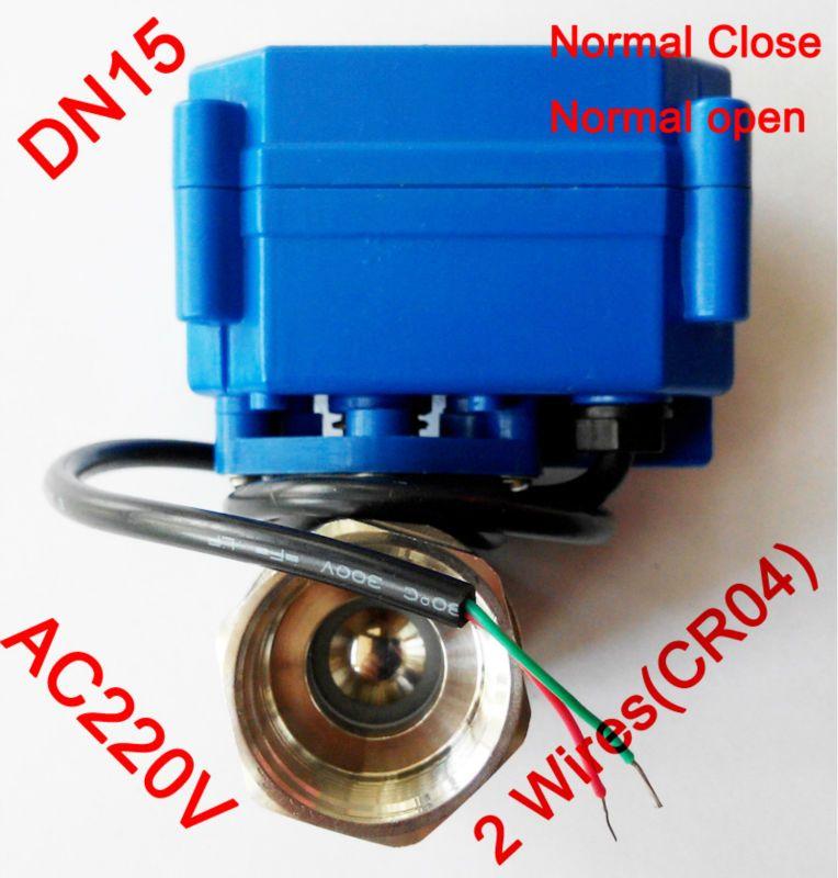 1/2 Mini elektrische kugelhahn 2 drähte (CR04), AC220V motorisierte ventil SS304, DN15 elektromotor ventil ausgeschaltet rückkehr
