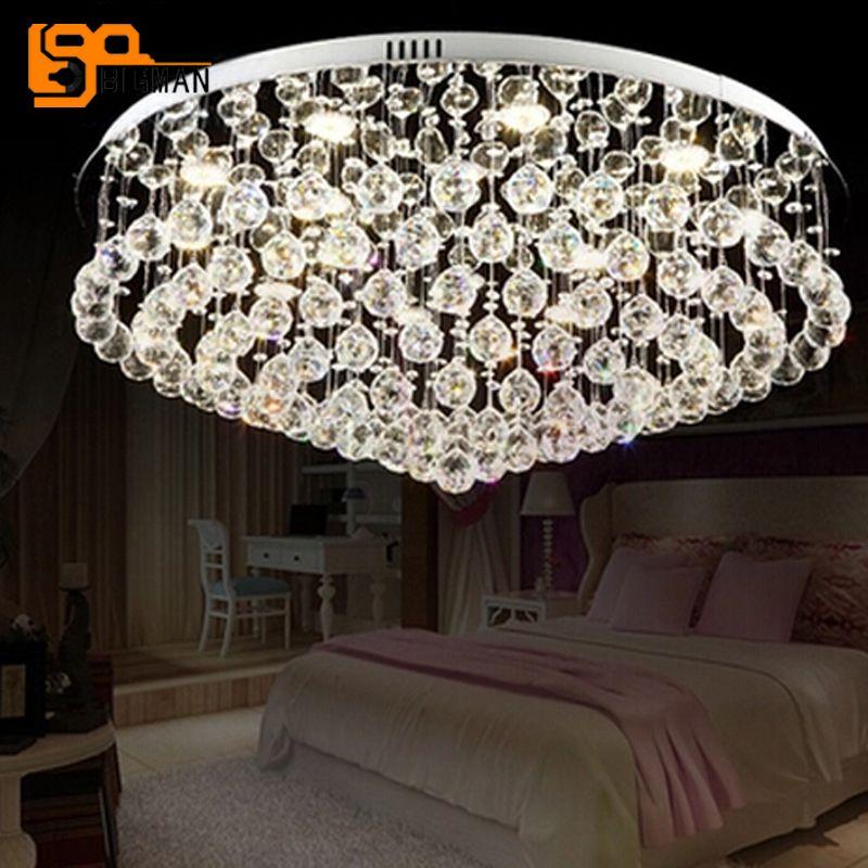 new modern chandelier ceiling crystal light AC110V 220V LED luminare lustre living room lamp