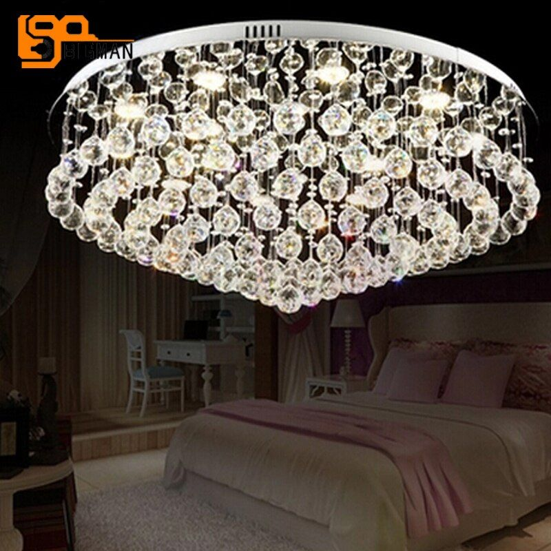 new modern chandelier ceiling crystal light AC110V 220V LED luminare lustre living room lamp