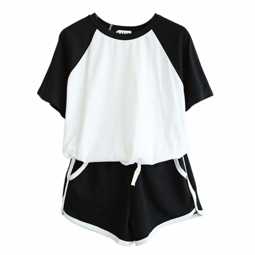 Tracksuit For Women Spring And Summer Short Sleeve T-shirt And Shorts Suits Casual 2 PCS Sets