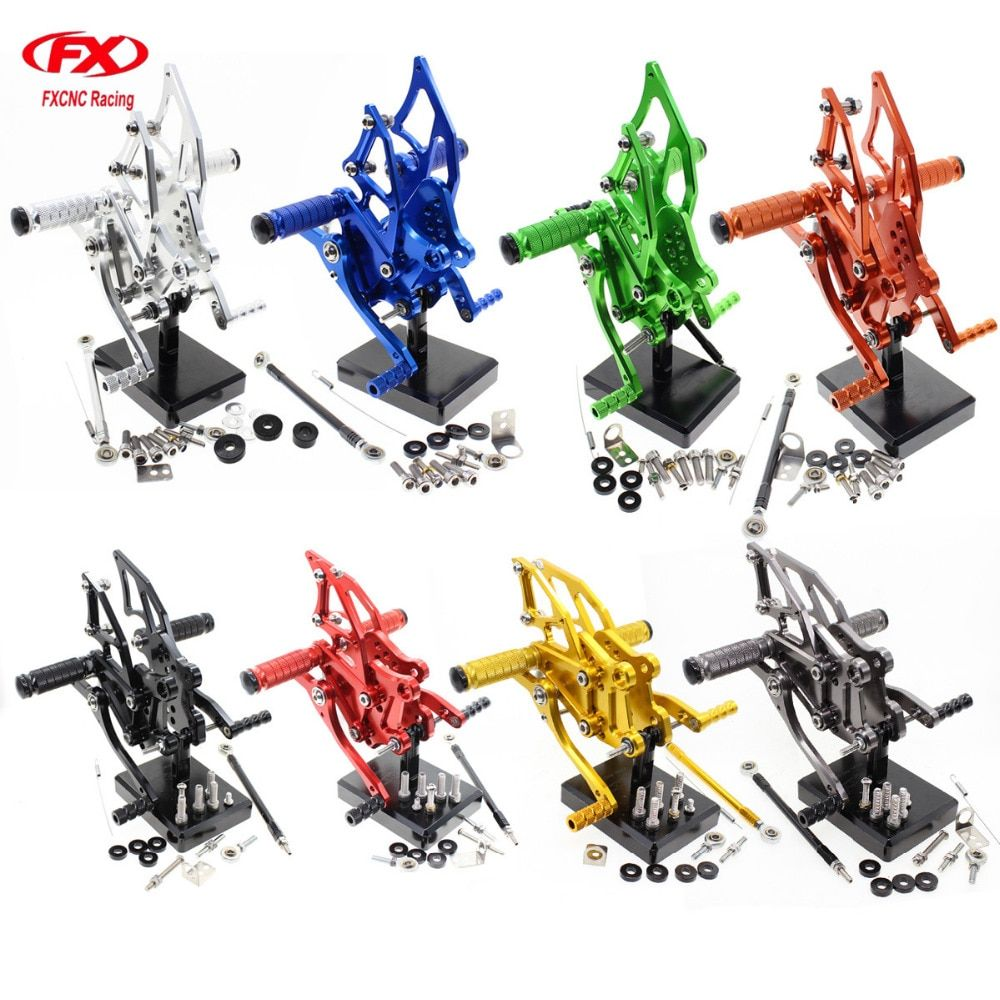 For Yamaha YZF R25 R3 R 25 R 3 2015 - 2016 Aluminum CNC Adjustable Motorcycle Rider Rear Sets Rearset Footrest Foot Pegs