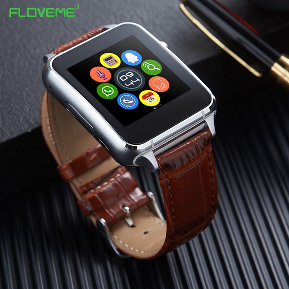 Floveme Bluetooth 3.0 Смарт-часы Шагомер анти-потерянный sim-карты Поддержка E7 SmartWatch для Android-смартфон SIM notificate наручные
