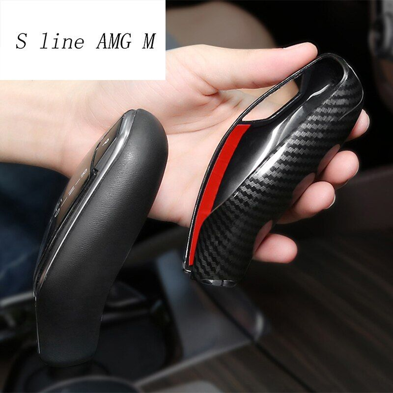 Car Styling automatic speed gear shift knob head covers Stickers For BMW 5 7 series G30 G38 G11 G12 X3 G01 trim Auto Accessories