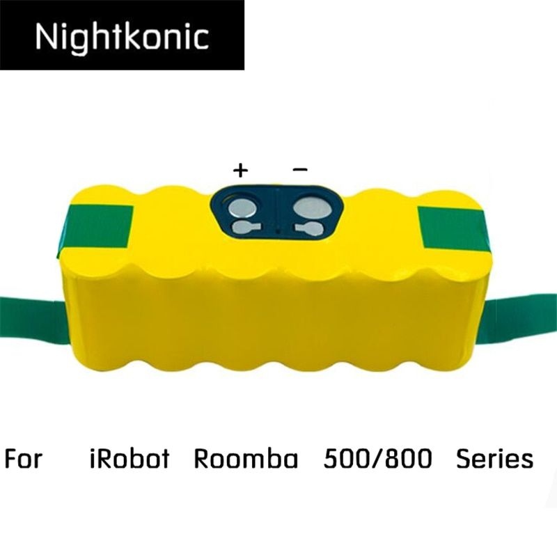 Nightkonic 14.4V NI-MH 4900mAh Rechargeable Battery pack For iRobot Roomba 500 600 700 800 Series Vacuum Cleaner