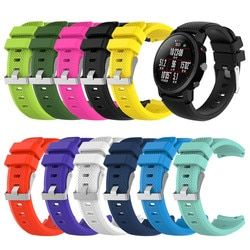 Suave de Silicagel reloj deportivo correa para HUAMI Amazfit Stratos reloj inteligente 2 Smartwatch Watach banda artículos deportivos Accesorios
