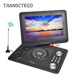 TRANSCTEGO DVD Player Portable Car TV 13.9 Inch Big player LCD Screen For Game FM DVD VCD CD MP3 MPEG4 Gamepad Anolog TV Antenna