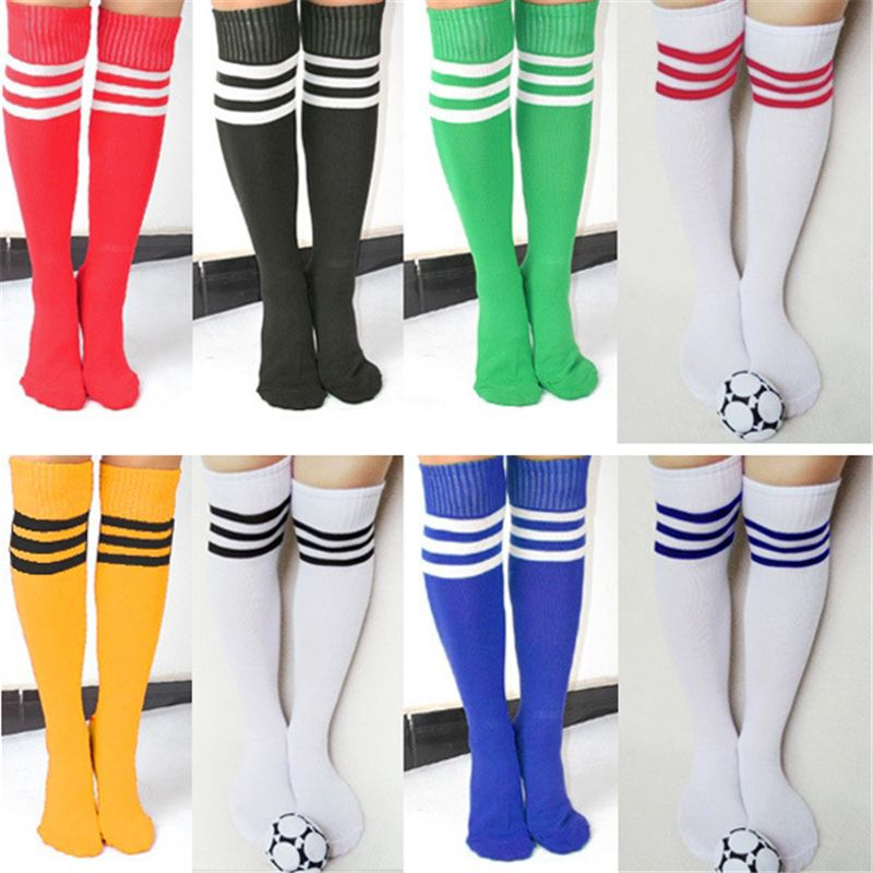 Superior 2017 New 5 Colors High Quality Three Strips Over Knee Stockings Men Women Boys Girls Hot Sale Stockings