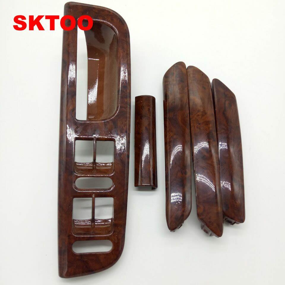 SKTOO 5PCS/A Set mahogany Inside door handle handrails shake decorative cover For Vw passat B5 Top quality Factory price