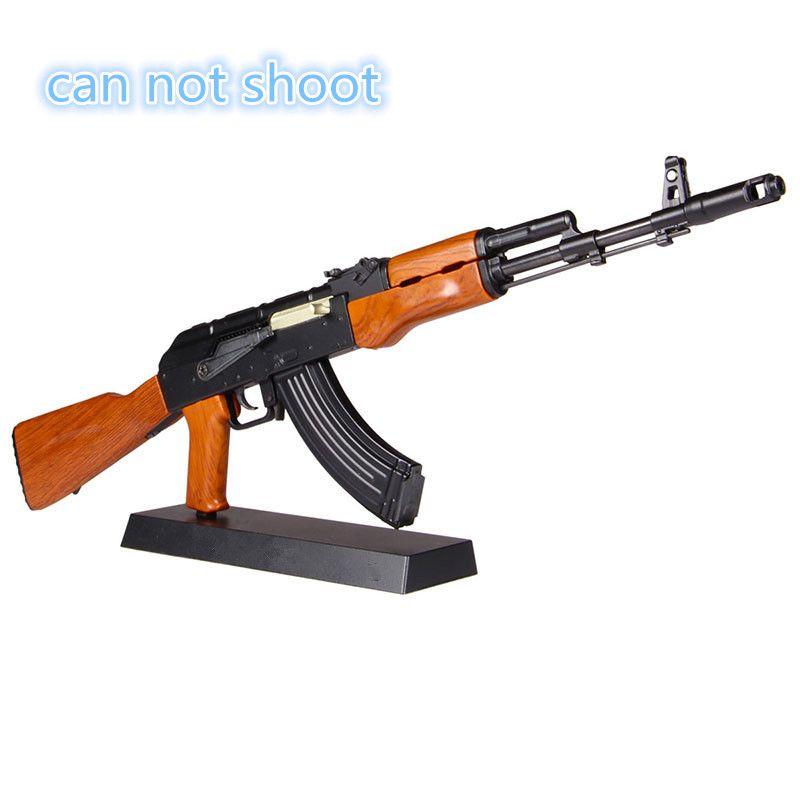 1:3. 5 offre spéciale AK47 métal pistolet jouet jouet modèle Fusils sniper fusil enfants AK74 bricolage Cadeau collection juguetes bracelets peut pas tirer