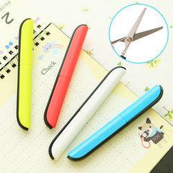Artisanat portable ciseaux de papier de coupe ciseaux pliants de sécurité mini papeterie ciseaux bureau et l'école main cut fournitures