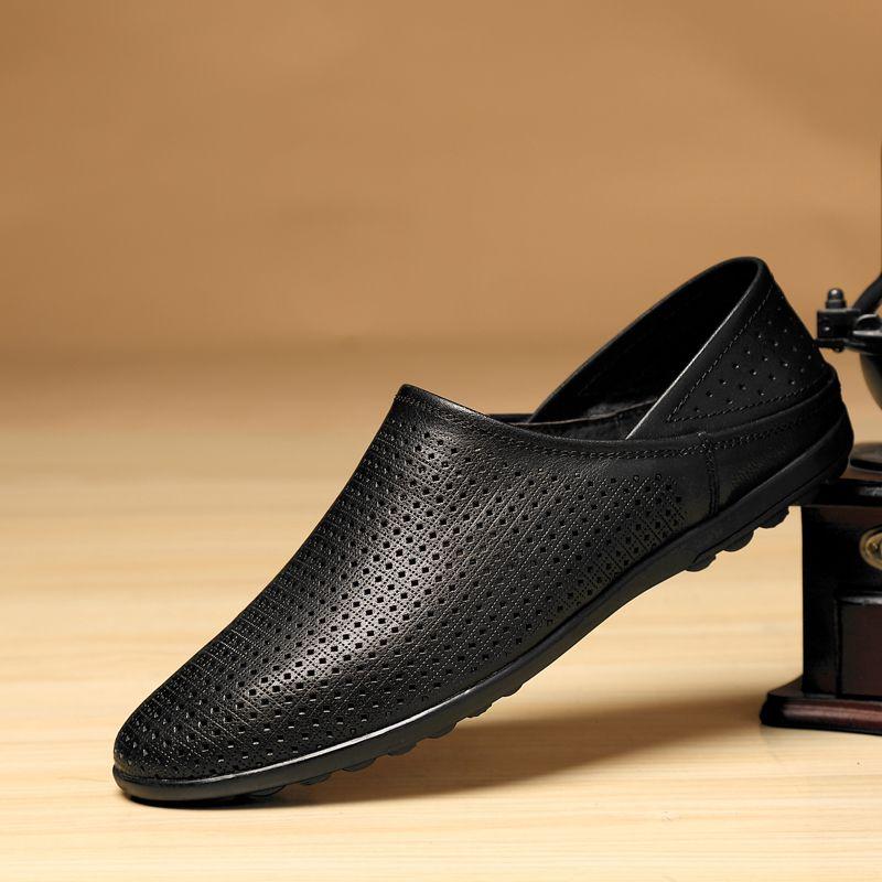 Casual echtem Leder Loafer Schuhe outdoor Männer Weiche Bequeme Schuhe Männer Mokassins Schuhe Mokasin Kasual Für Männer Schuhe L5