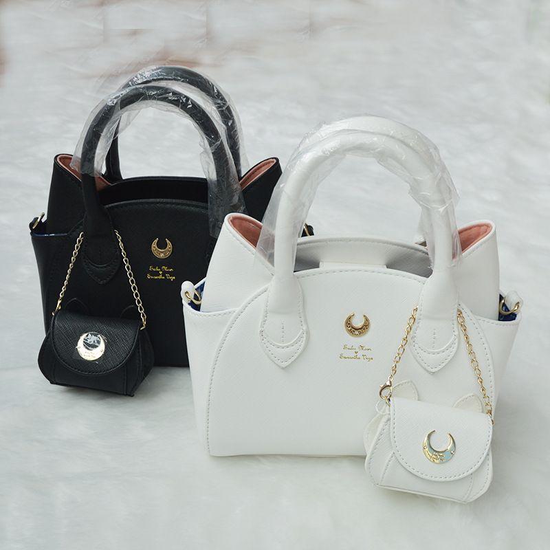 Brand Design sailor moon luna/artemis hand bag samantha vega handbag cat ear shoulder bag messenger bag