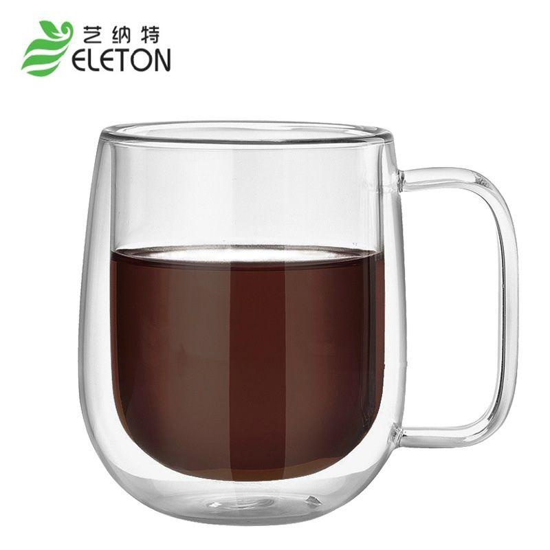 ELETON isolation Thermique à double couche tasse en verre, café tasse, haute borosilicate verre, haute température isolation Tasse verres