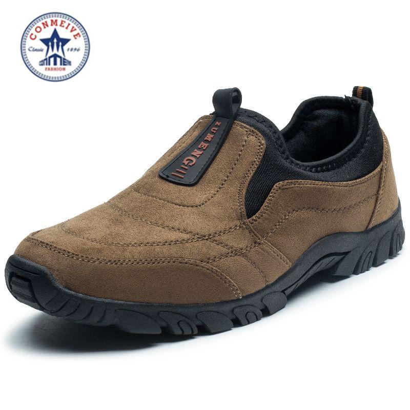 Vente chaussures de randonnée baskets sans lacet camping en plein air 2018 trek sport hommes escalade outventure sapatos masculino moyen (b, m)