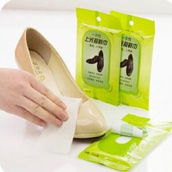 free shipping Cleaning and polishing shoe cleaning towel leather nail polish care disposable wet wipes non-woven shoe towel ten